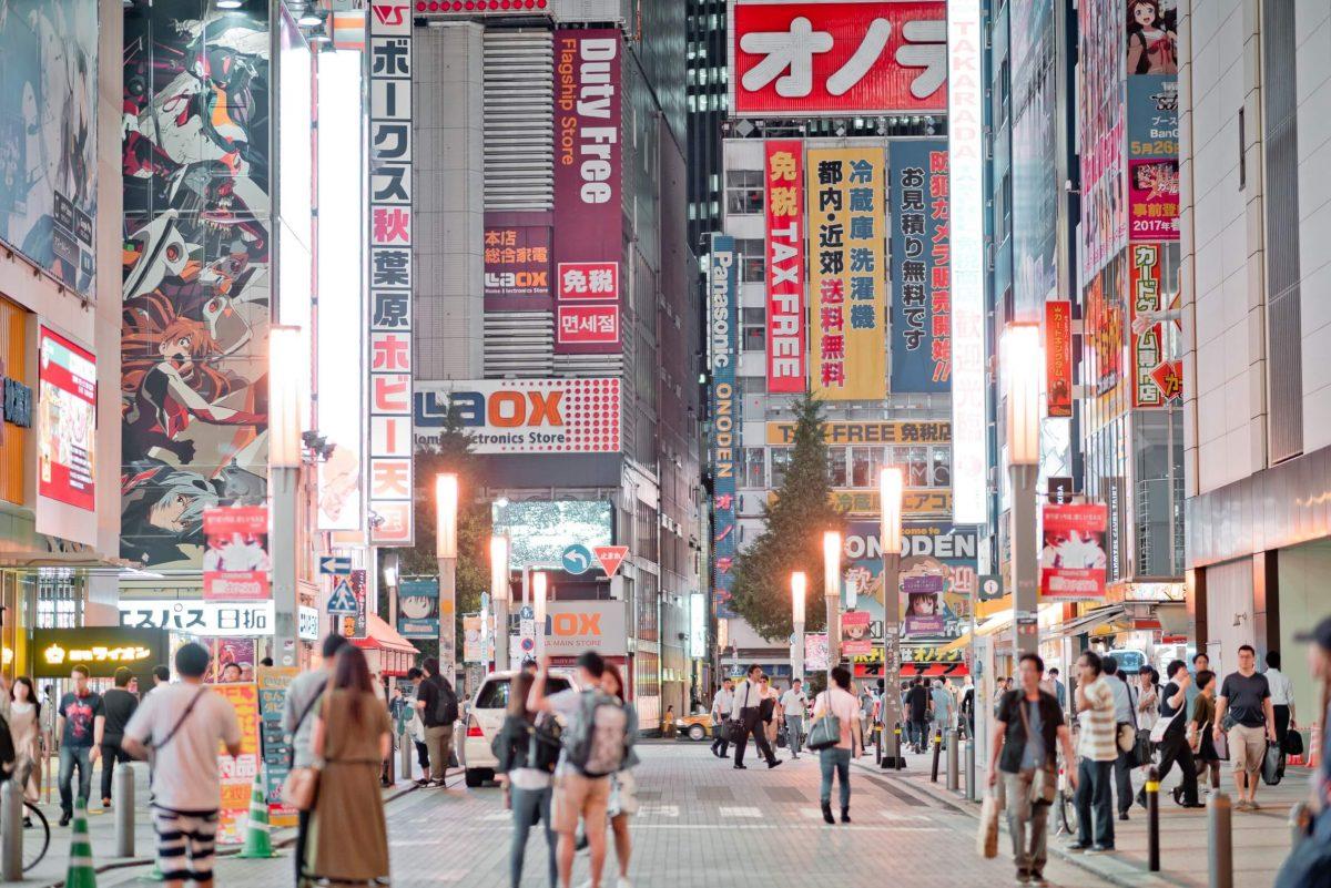tokyo drukke stad stedentrip